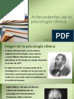 Historia Psicología Clínica