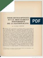 Gabaude, Descartes-Spinoza et le mouvement historique de la rationalité