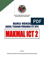 Buku Rekod Jadual Tugasan Pengawas ICT