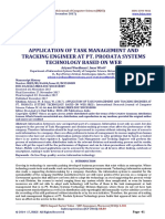 APPLICATION OF TASK MANAGEMENT AND TRACKING ENGINEER AT PT. PRODATA SYSTEMS TECHNOLOGY BASED ON WEB