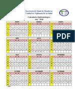 CALENDARIO EPIDEMIOLOGICO 2018