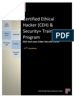 CEH and Security+ Course Outline
