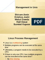 Presentation on Prcosess Managemnt in Unix
