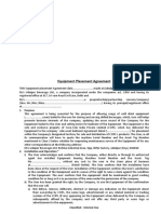 Equipment Placement Agreement