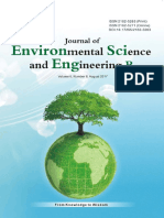 Journal of Environmental Science and Engineering,Vol.6,No.8B,2017