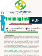 GST(Goods & Service Tax) Practical Training Institute