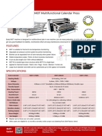MOT Easty Rotary heat press calender/ calandra heat transfer sublimation/sublimacion printing
