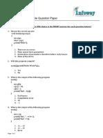 SampleQuestionforC Programming
