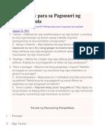 Mga Gabay Para Sa Pagsusuri Ng Isang Pelikula (Bata Bata...)