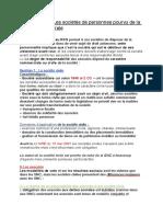 Fiche 2 - Les Sociétés de Personnes Pourvu de La PM (1)