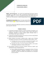 MINUTA - Contrato de AVENÇA Juridico