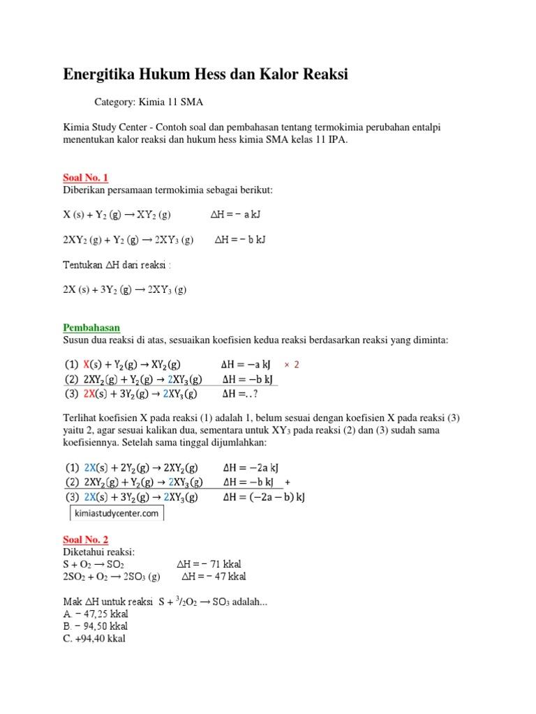 Energitika hukum hess dan kalor reaksi 1529265652v1 ccuart Choice Image