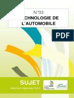 Concours Sujet Technologie Automobile