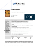 God is My Ceo Abstract