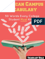 American Campus Vocabulary 50 Words Every College Student Must Know FINAL