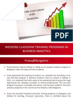 Weekend Business Analytics Programs at Bangalore