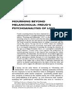 Clewell, T - Mourning Beyond Melancholia, (2004) 52 J American Psychoanalytic Association 43.pdf