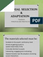 Material Selection %26 Adaptation