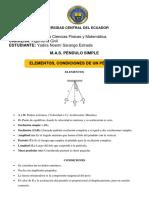 m.a.s. Péndulo Simple