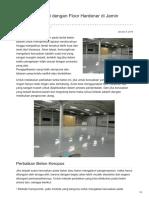 Perbaikan Lantai dengan Floor Hardener di Jamin Berkualitas -☎ 0821 1372 4737