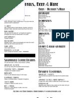 John's City Diner Wine List