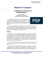 CRS Report for Congress - Subcommittees in the House of Representatives