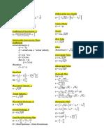 Fluids Formulas