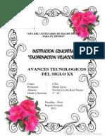 AVANCES TECNOLOGICOS DEL SIGLO XX.docx