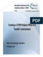 """Creating a CCPM Projects Office in a  """"hostile"""" environment"""