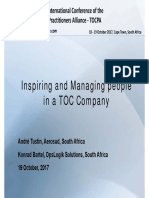 Inspiring and Managing people in a TOC Company