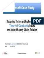 Designing, Testing and Implementing a Theory of Constraints based     end-to-end Supply Chain SolutionDesigning, Testing and Implementing a Theory of Constraints based  end-to-end Supply Chain Solution