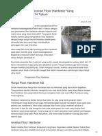 Pekerjaan Pengecoran Floor Hardener Yang Berpengalaman 14 Tahun—☎ 0821 1372 4737