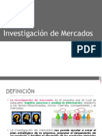 La Investigacion de Mercados en marketing