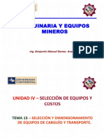 Máquina y Equipo Minero_Tema_15