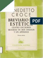 Croce Benedetto Breviario de Estetica Espasa Calpe 1985 PDF