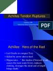 Achilles Tendon Ruptures Dr. Yanuarso