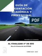 Guía de Orientación Académica y Profesional_4º ESO_Granada