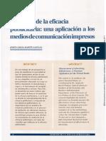 Medición de Eficacia en Medios de Comunicación Impresos