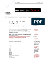 Whitefield's Prayer_ Every Chapter of the Entire Bible in Chronological Order