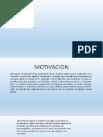 LA Motivacion psicologica