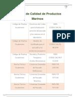 Normas de Calidad de Productos Marinos