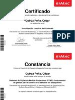 Certificados Rimac