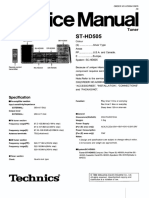 Technics ST-HD505 Tuner Service Manual