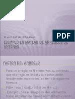 Ejemplo en Matlab de Arreglos de Antenas