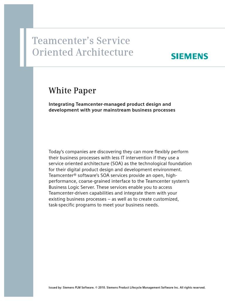 Siemens-PLM-Teamcenter-Service-Oriented-Architecture