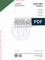 ABNT NBR 14725-4 2009 Versão Corrigida 2010