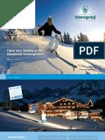 Winter Brochure Hotel Schwaigerhof Austria Skiresort Schladming