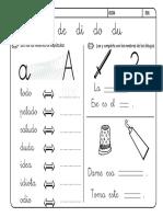 Lectoescritura Letra d Ficha III