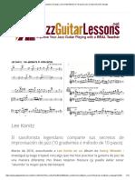 Lecciones de Guitarra de Jazz_ Lee Konitz Método de 10 Pasos Para La Improvisación Del Jazz