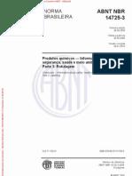 ABNT NBR 14725-3 2009 Versão corrigida 2010